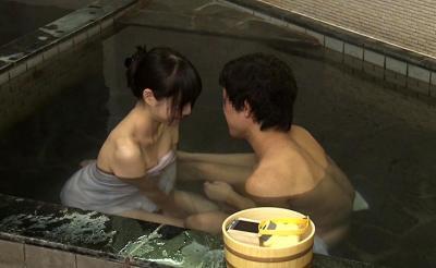 温泉でお姉さんと二人きりで混浴の素人企画!!イチャイチャしてついにアクメセックスwこれぞリアル痙攣アクメw