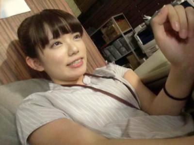 【女子社員】『実はおチンチン大好きなんです…』ロリ童顔のスレンダーがAV女優デビュー企画でハメ撮りセックス!