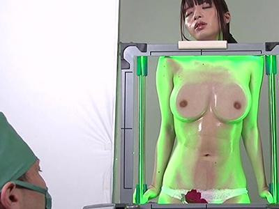 【爆乳素人レントゲン】『巨乳すぎww』超乳の美少女がおっぱい検査で露出の素人企画w医者が視姦するヤバイやつw