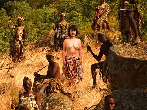 《黒人デカチン巨根》『アフリカの原住民とセックスします…』変態外国人企画!!