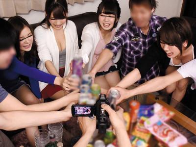 【泥酔素人】『パーティ〜!☆』超乳の女子大生とギャル男がエロゲーム企画