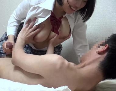 【風俗嬢盗撮】『セックスしたいな♡』制服着衣の巨乳美少女wデリヘルお姉さんが本番企画