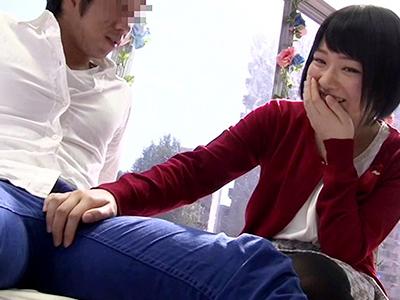 【素人企画】『こういうの緊張するぅ〜〜♡』巨乳な素人お姉さんと、そのカップルをナンパして監視w発情して即ハメ企画!!